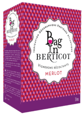 BIB Bag In Berticot, Merlot, IGP Atlantique rouge